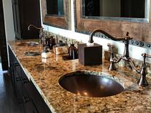 BO19CN Wide Copper Oval Bath Sinks
