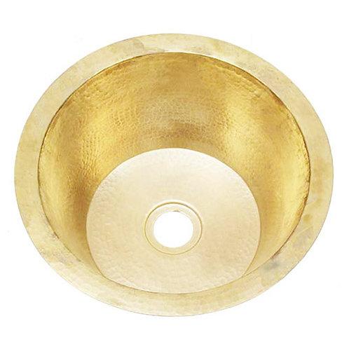 Bar Sink Round Hammered Brass (RBV14-BRASS)