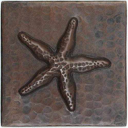 Copper Tile (TL974) Starfish Design