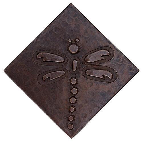 Copper Tile (TL808) Dragonfly Design