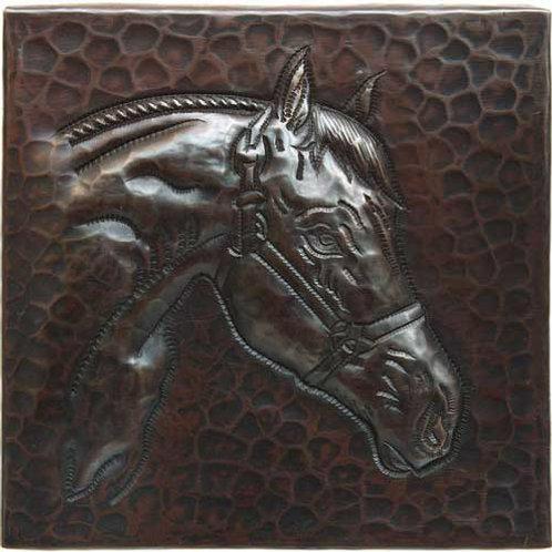 Copper Tile (TL208) Horsehead Design