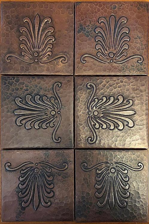 Copper Tile (TL259) Set of 6