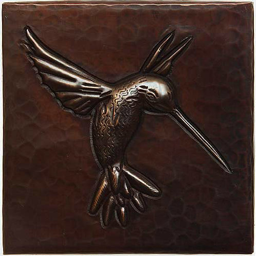 Copper Tile (TL212) Hummingbird Design
