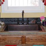 KDI-W1 top mount copper kitchen sink