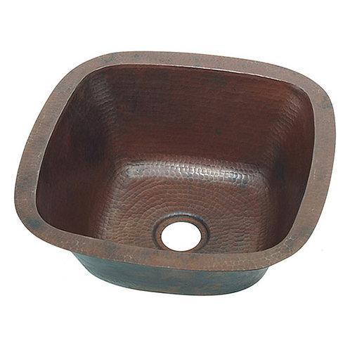 Bar Sink Square Copper Bar Prep Sink (SBV15)