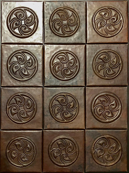 Copper Tile (TL857) Set of 12