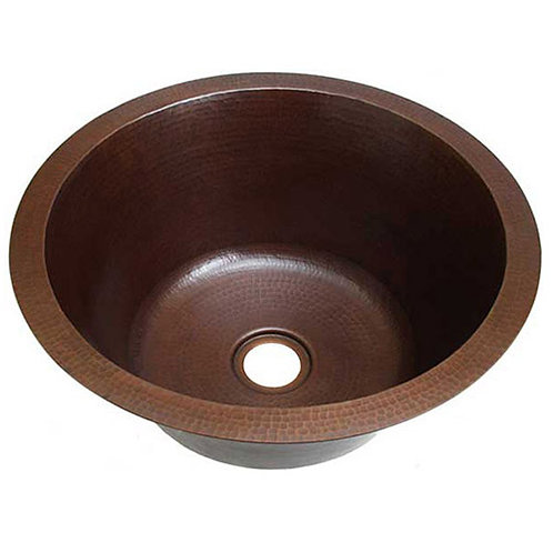 Bar Sink Round Copper Bar Prep Sinks-3 sizes (RBV)