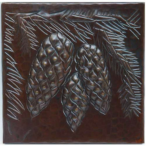 Copper Tile (TL203) Pinecone Cluster Design