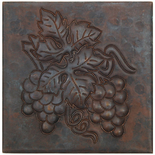 Copper Tile (TL416) Grape Clusters Design
