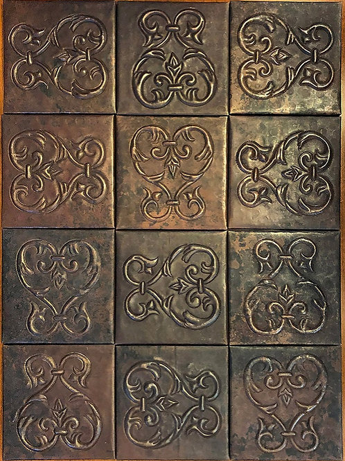 Copper Tile (TL858) Set of 12
