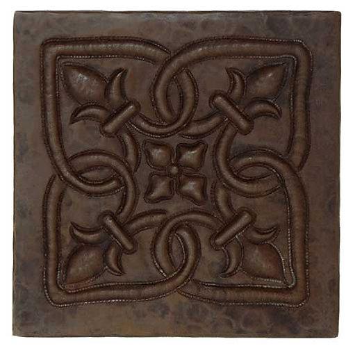 Copper Tile (TL364) Infinity Fleur De Lis Design
