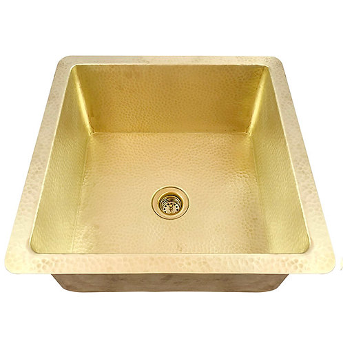Bar Sink Square Matte Brass Bar Kitchen Prep Sink (SBVA16-MB+DRN)