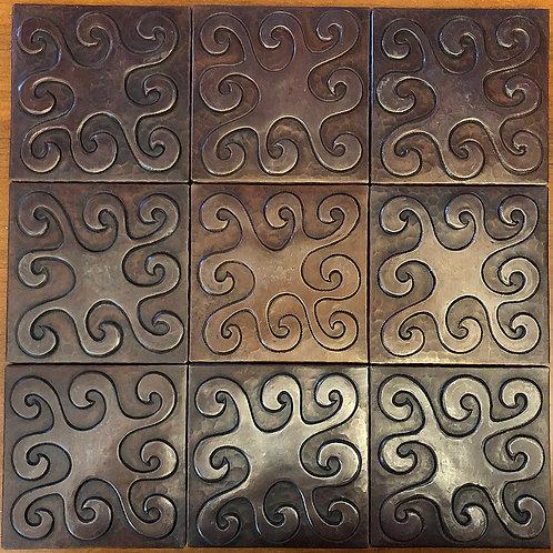 Copper Tile (TL424) Set of 9