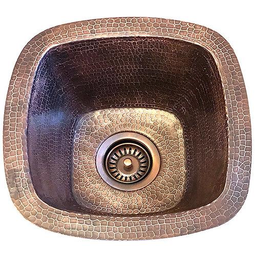 Square Copper Bar Prep Sink (SBV14-MED)