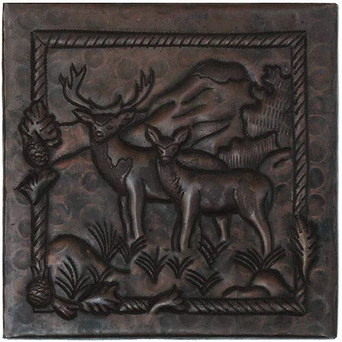 Copper Tile (TL713) Deer Design