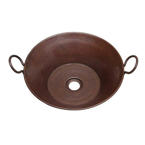 Vessel Sink Copper Cazo Sink with handles (CZH16)
