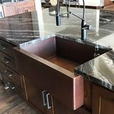 FHA33W1-Hammered Farmhouse Copper Kitchen Sink