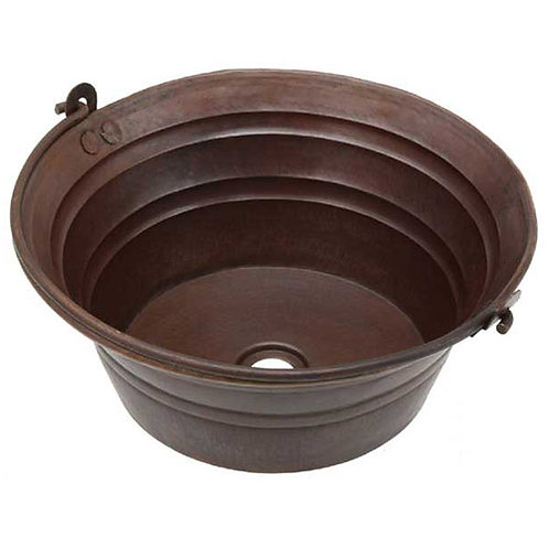 Vessel Sink Round Copper Bucket Sink (BKT17)