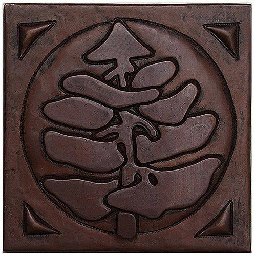 Copper Tile (TL217) Pine Tree Design