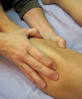 Rolfing lower leg muscles and fascia