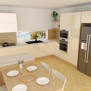 Vizualizace kuchyně dle zadání