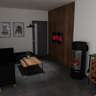 Apartmán - společenská část