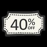 40% de desconto