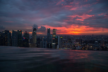 Singapore From The Marina Bay Sands.