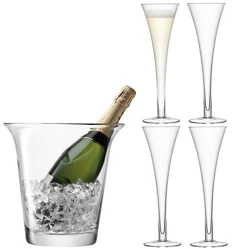 GARDEN BARN Bar Champagne Set Clear