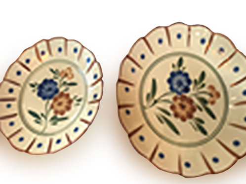 MANILA HOUSE - Big Flower Plate