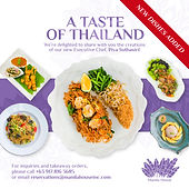 Thai Menu by Chef Piya Suthasiri of Manilahouse