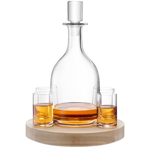 GARDEN BARN Lotta Decanter Set & Ash Base