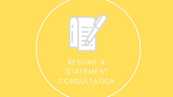 Private Resume & Statement Consultation