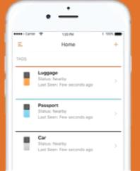 schritt 2: verbinden  nutze die kostenlose app. es ist einfach deinen mu tag einzurichten. füge es zu deinem dashboard hinzu.