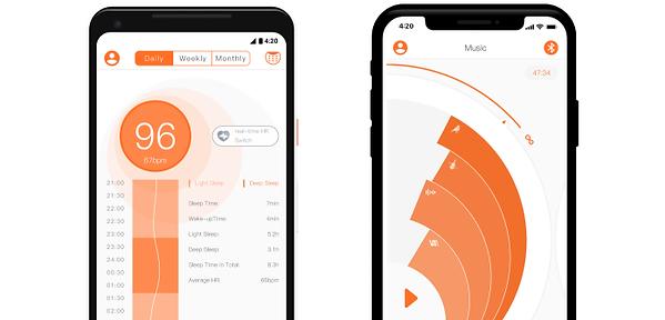 tracke deinen schlafplan mit der dreamlight app für android und ios. verknüpfe ihn mit deinem persönlichen genprofil, um einen maßgeschneiderten schlafplan zu erhalten. zudem dient die app dazu, um einstellungen für deine smarte schlafmaske vorzunehmen.