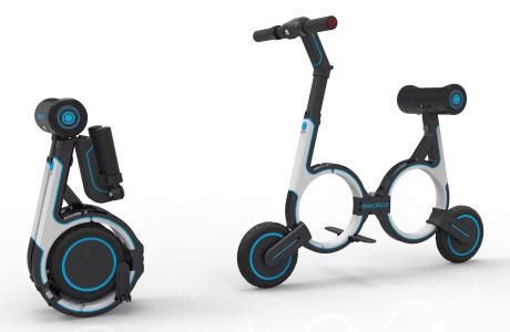 """smacircle s1 soll das kompakteste und leichste e-bike der welt sein. damit musst du nie wieder eine ubahn oder einen parkplatz benutzen. das leichtgewicht aus kohlefaser kann in 5 schritten so gefaltet werden, dass es in deinen rucksack passt. die fassettenreiche ios und android app ist ideal für pendler. mit der app kannst du auch dein smacircle """"anschließen"""" und draußen  stehen lassen. am sattel befindet sich außerdem ein usb-anschluss, mit dem man bequem sein smartphone laden kann."""