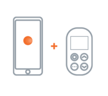 zwei steuerungen    stellen sie über die app oder das frontbedienfeld die wichtigsten funktionen von dreamlight ein.