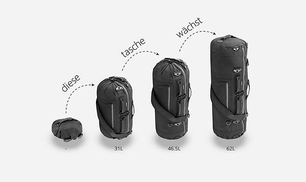 die verstellbare tasche verwendet ein innovatives und einfaches kordelsystem, mit dem sie sich sofort erweitern oder zusammenziehen lässt. es ist unauffällig und vollständig in das design integriert, was ihm ein unauffälliges aussehen verleiht. keine andere tasche ist einfacher zu bedienen.