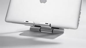 der ridge stand pro plus: 181x132x32mm, nettogewicht 440g maximale belastung: 2,5kg für macbook pro und andere laptops