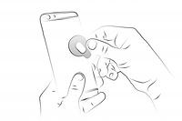 schritt 1: klebe den q-magneten auf dein smartphone