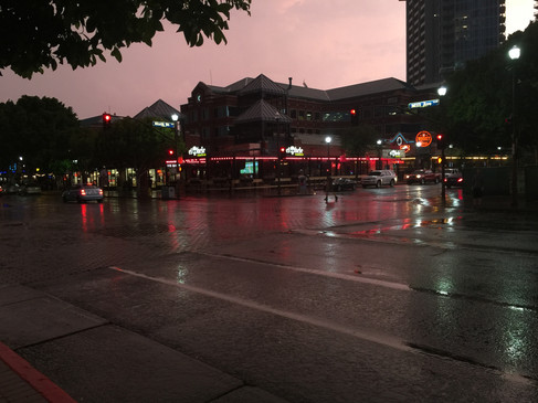 Mill Ave in the Rain