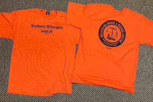 Safety Orange Short Sleeve Shirt