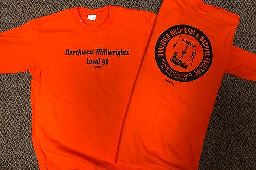 Safety Orange Long Sleeve Shirt