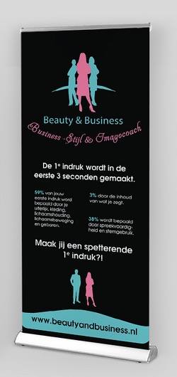 Beauty en Business roll-up banner