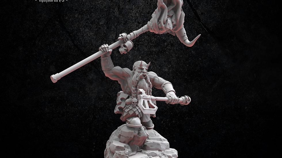 Infernal Dwarf Magmhorin Battle Standard Bearer