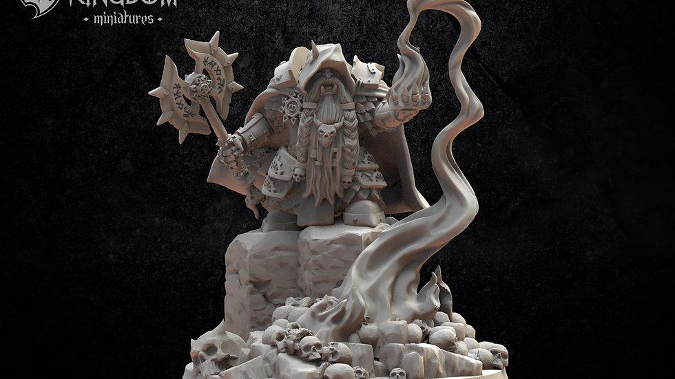 Magmhorin Mercenary- Resin Miniature- 3D Printed- Chaos Infernal Dwarf- 28mm sca