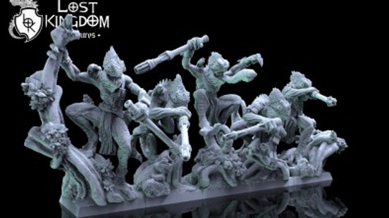 Saurian Chameleons - Resin Miniature 28mm