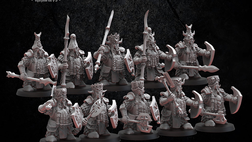 Infernal Dwarf Magmhorin Chaos Dwarves- Resin Miniature- 3D Printed- 28MM
