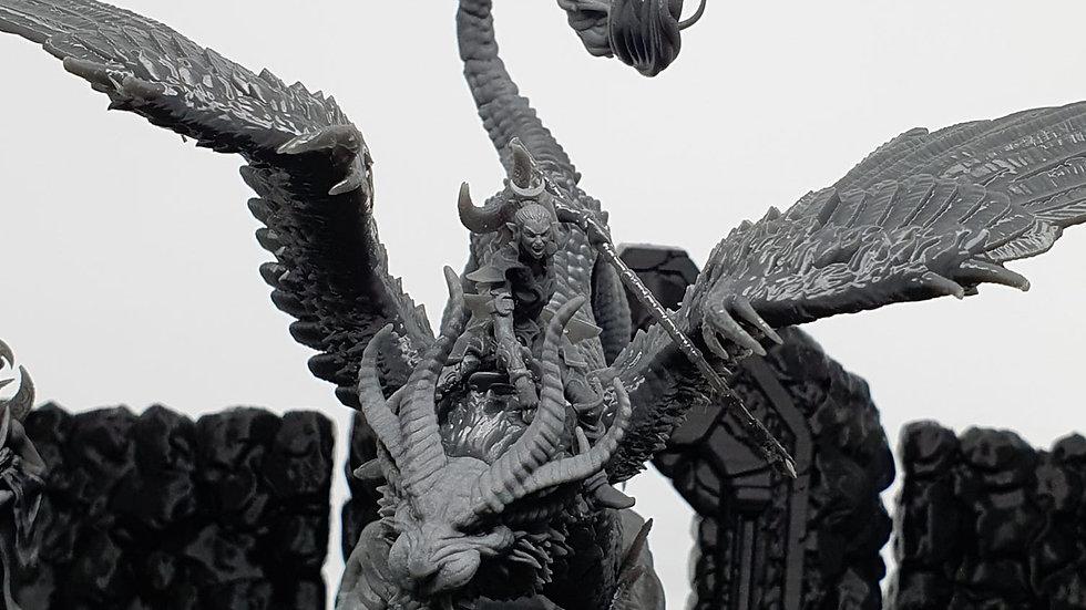 Mihikso, Beastmaster on Qiong Qi - Dark Elf or Night Elf Resin Manticore, Lost K