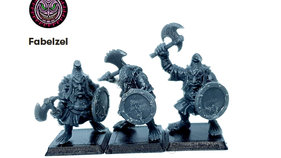 Classic Chaos Dwarf Hobgoblin warriors